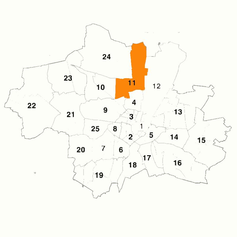 Badge of Stadtbezirk 11 Milbertshofen-Am Hart
