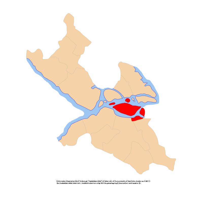 Badge of Södermalms stadsdelsområde