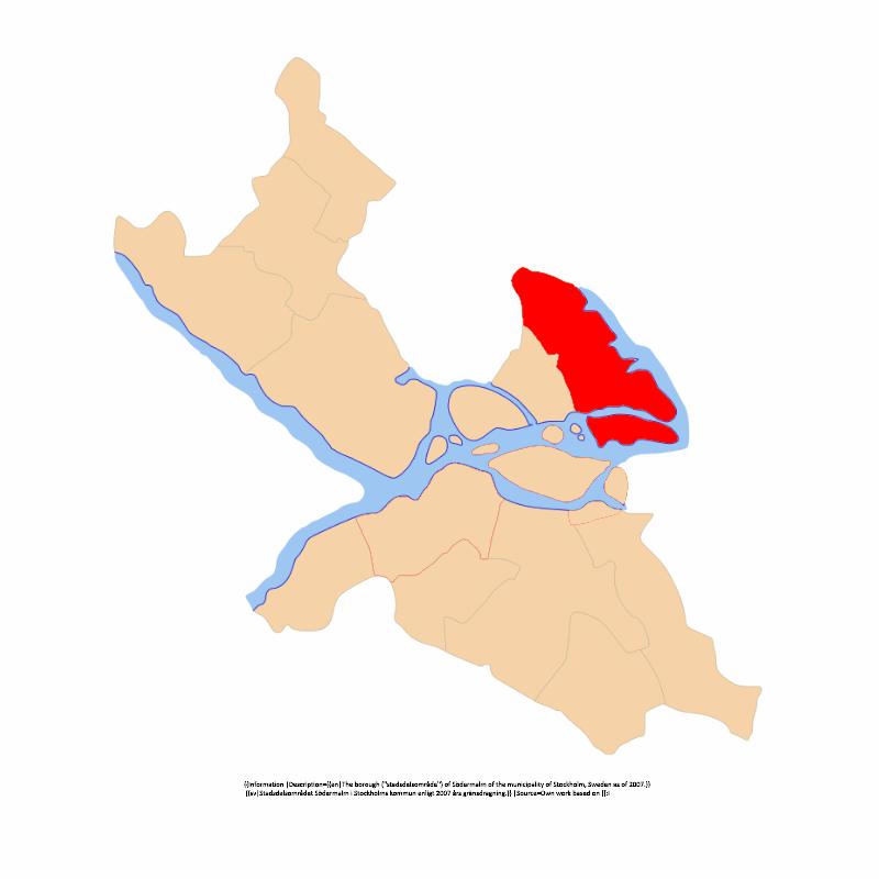 Badge of Östermalms stadsdelsområde