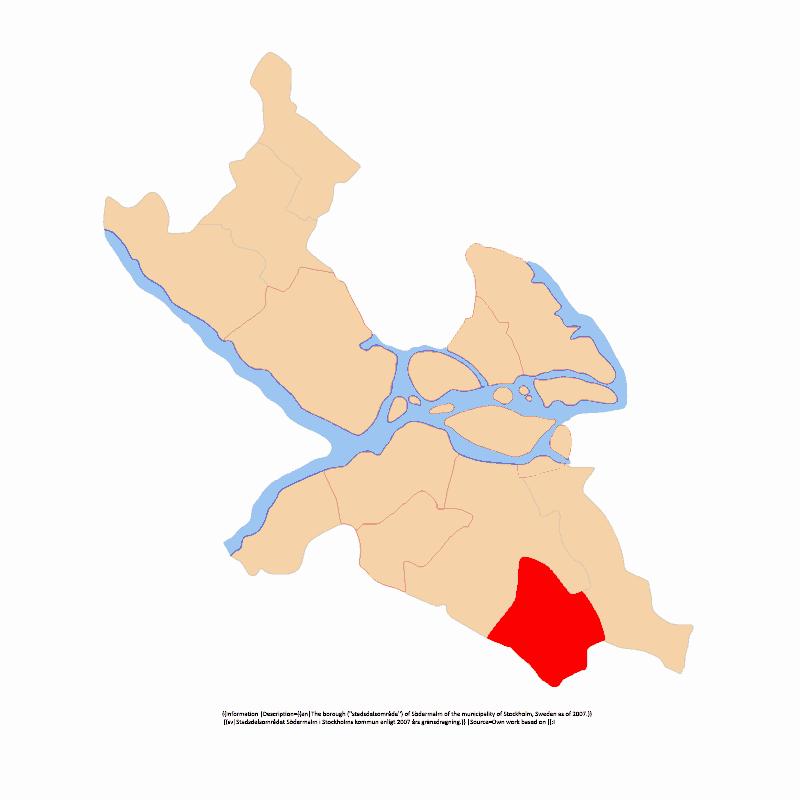 Badge of Farsta stadsdelsområde