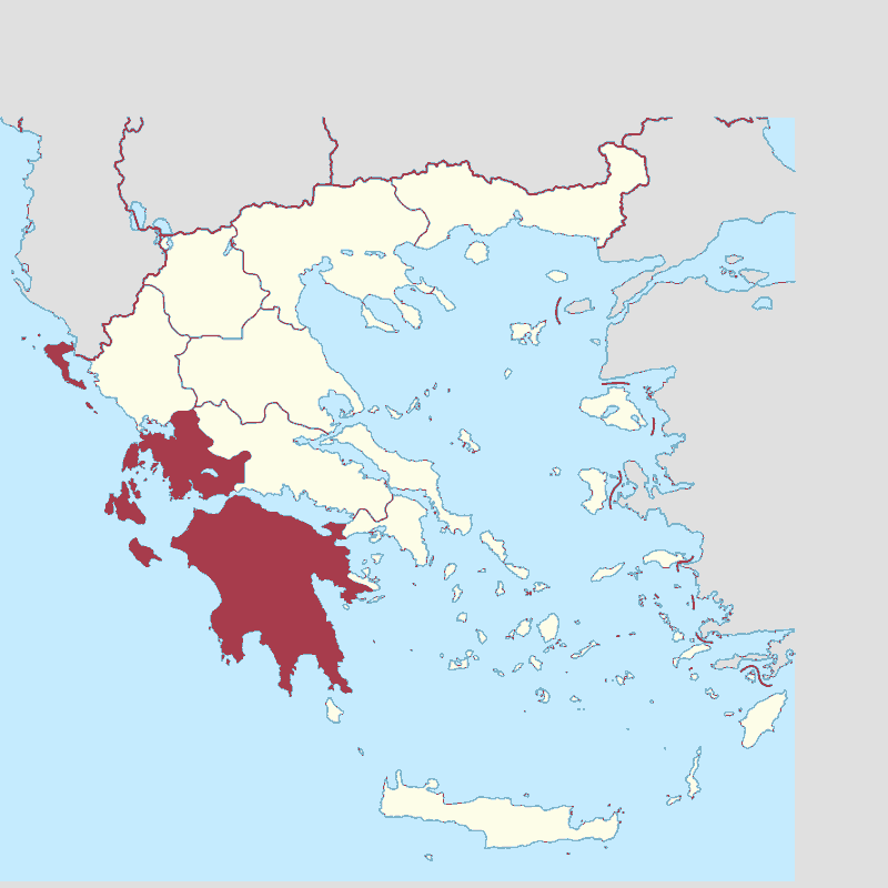 Badge of Peloponnese, West Greece and Ionian Sea