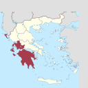 Peloponnese, West Greece and Ionian Sea