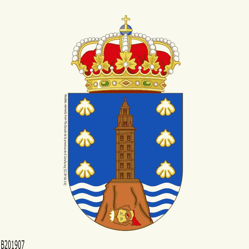 Badge of A Coruña
