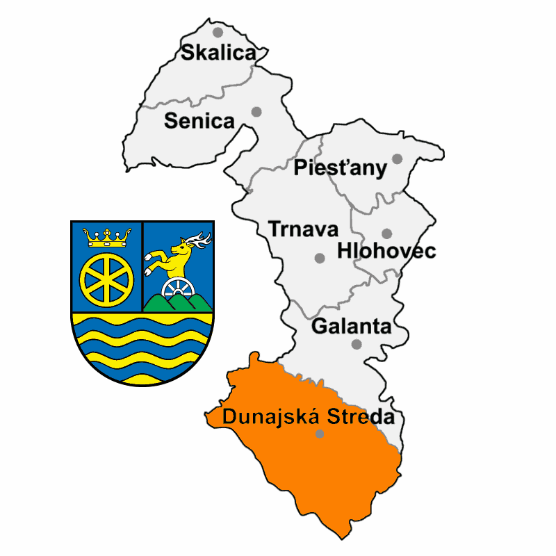 Badge of District of Dunajská Streda